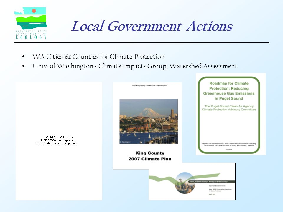 Local Government Actions  WA Cities & Counties for Climate Protection  Univ.