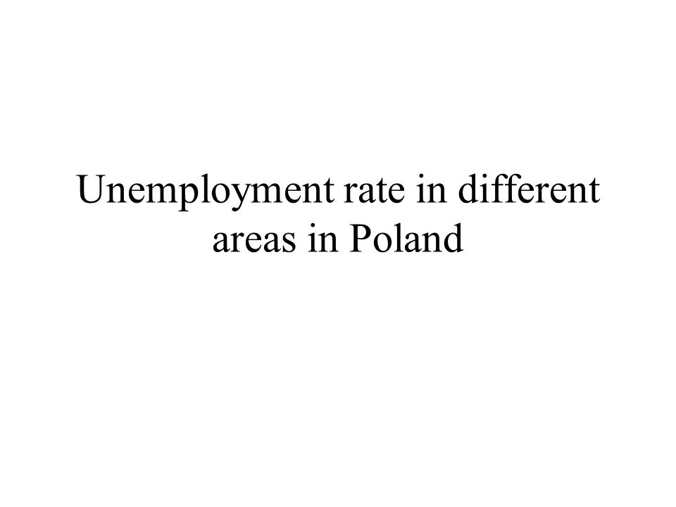 Unemployment rate in different areas in Poland