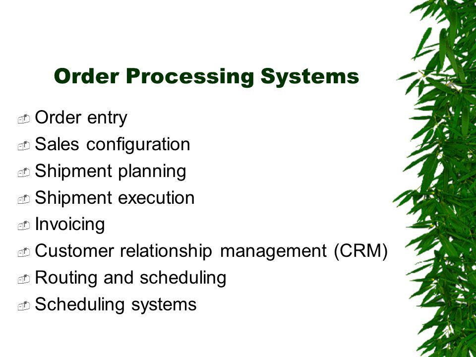 Transaction Processing & Enterprise Resource Planning