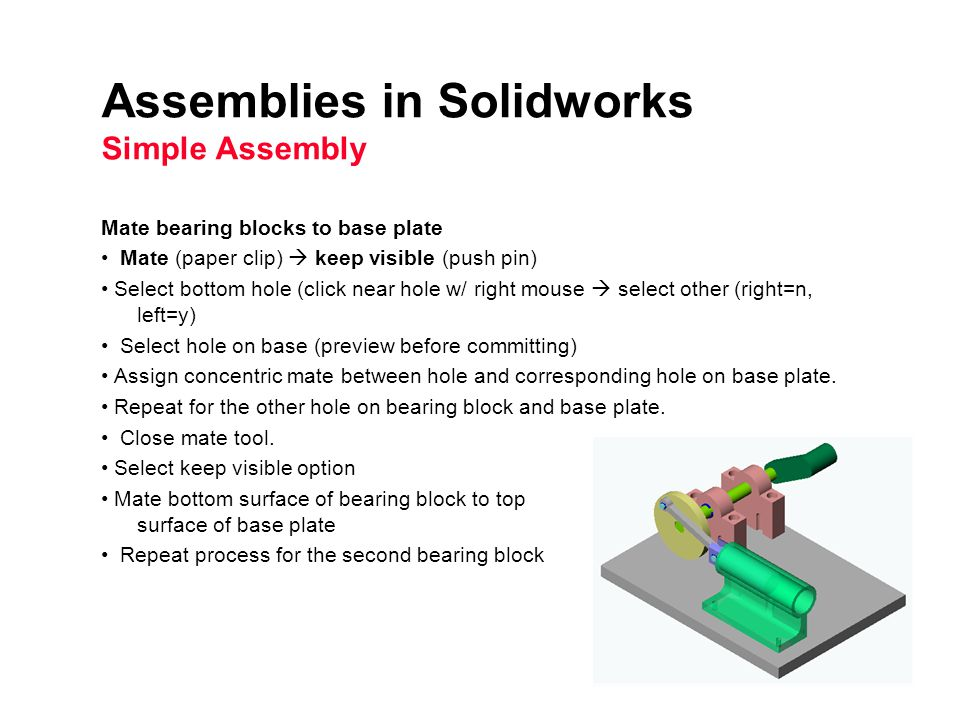 Basic techniques-assembly mates (solidworks) youtube.