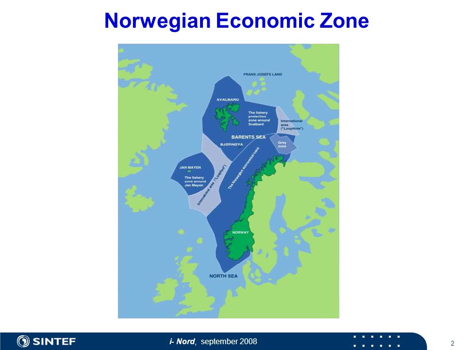 i- Nord, september Norwegian Economic Zone