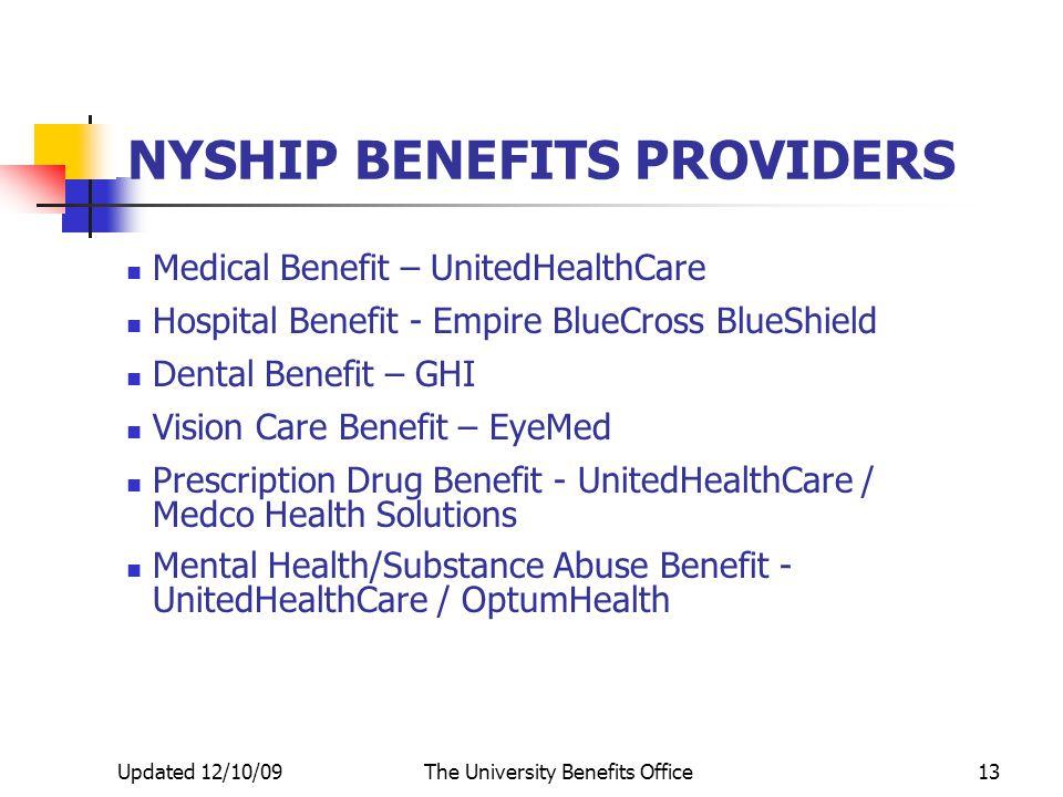 The City University of New York NYS HEALTH INSURANCE PROGRAM