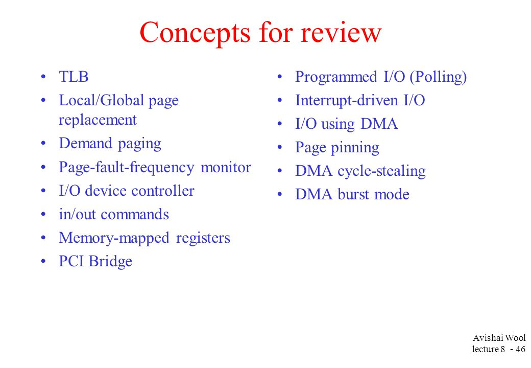 Avishai Wool lecture Introduction to Systems Programming Lecture 8