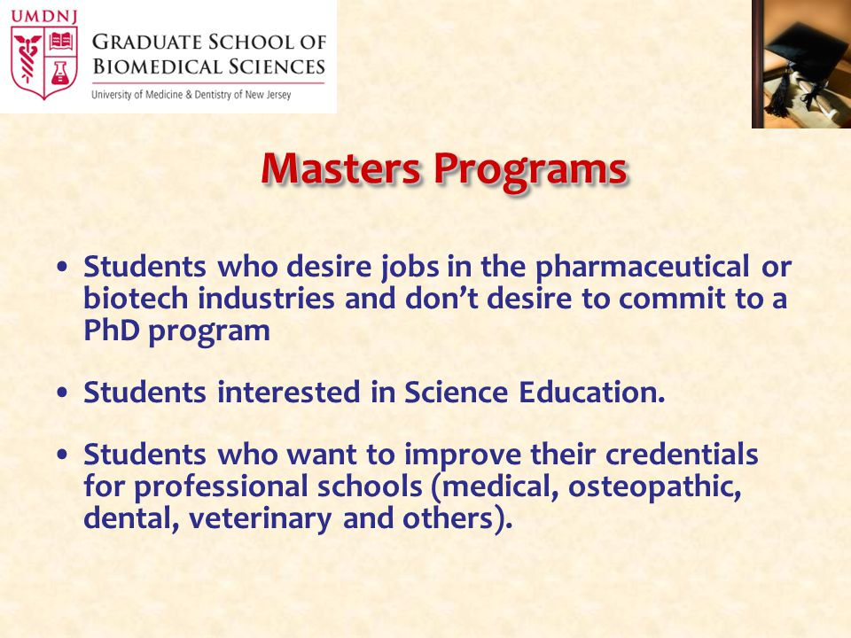 Training Programs in the Graduate School of Biomedical