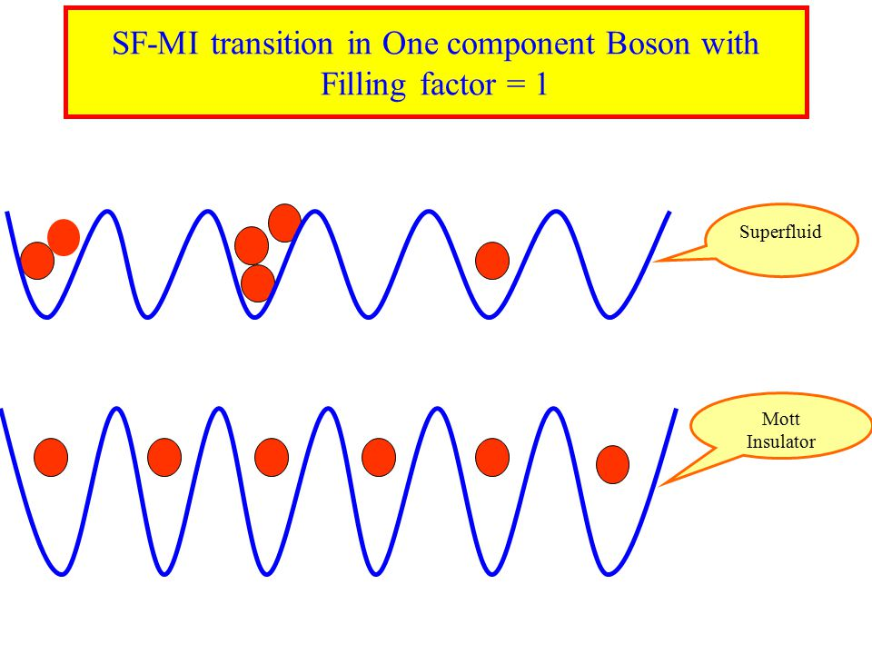 Mott Insulator Superfluid SF-MI transition in One component Boson with Filling factor = 1