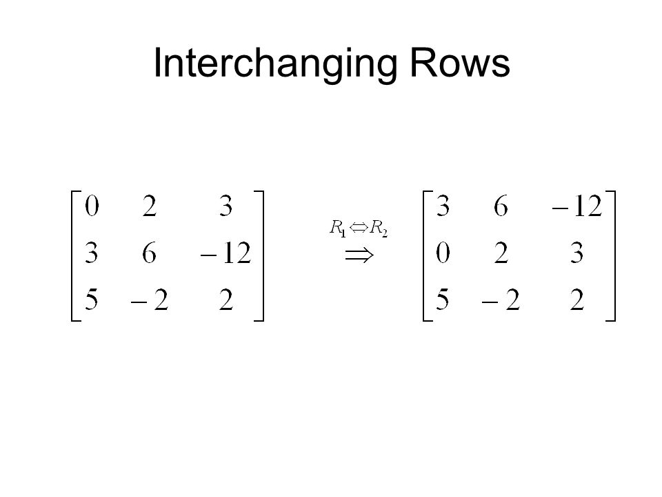 Interchanging Rows