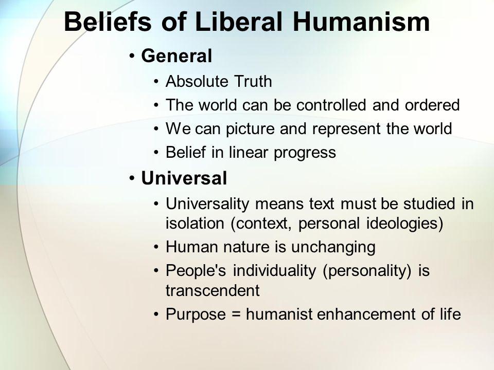 liberal humanism vs new criticism