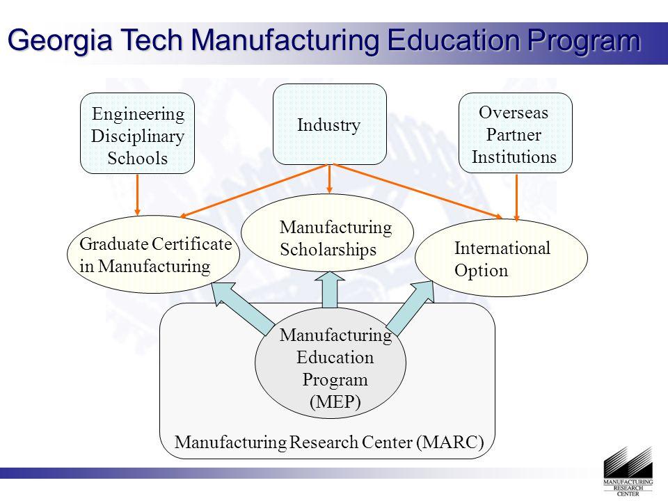 Manufacturing Education Program at Georgia Tech Shreyes N  Melkote