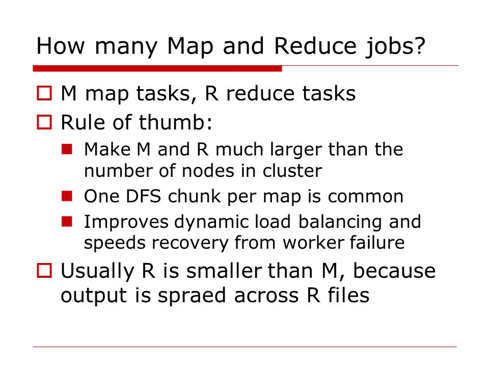 How many Map and Reduce jobs.