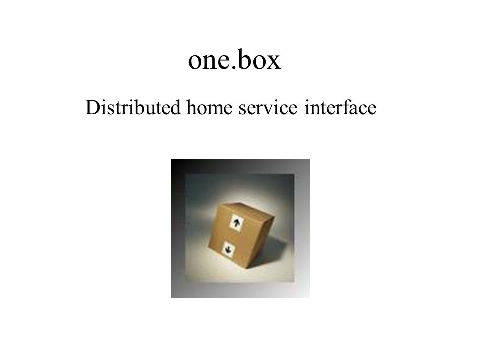 one.box Distributed home service interface
