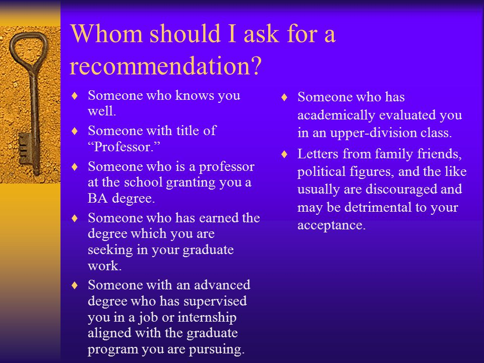 Letters Of Recommendations For Admission To Graduate School By