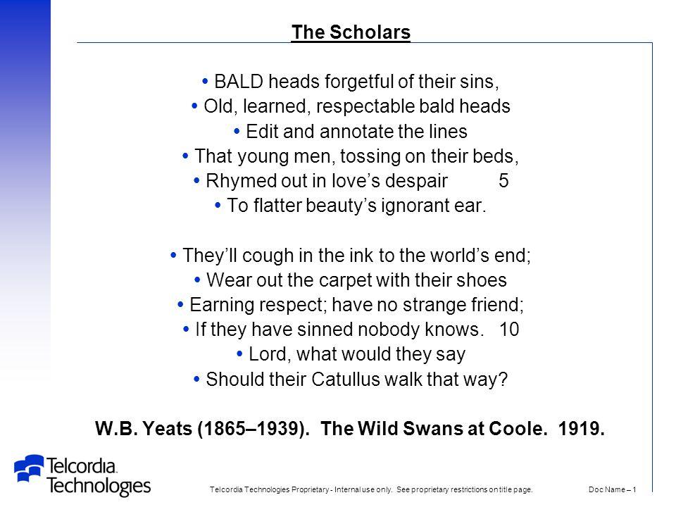 the scholars yeats