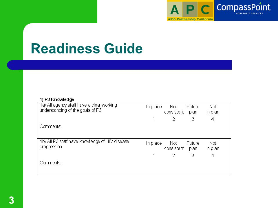 3 Readiness Guide
