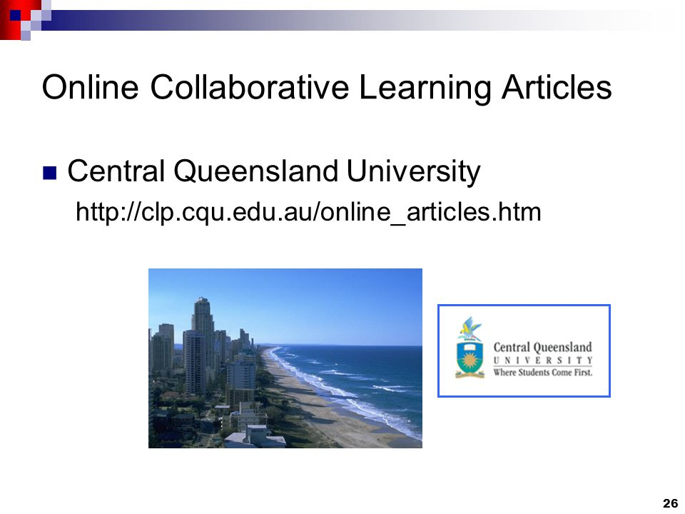 26 Online Collaborative Learning Articles Central Queensland University