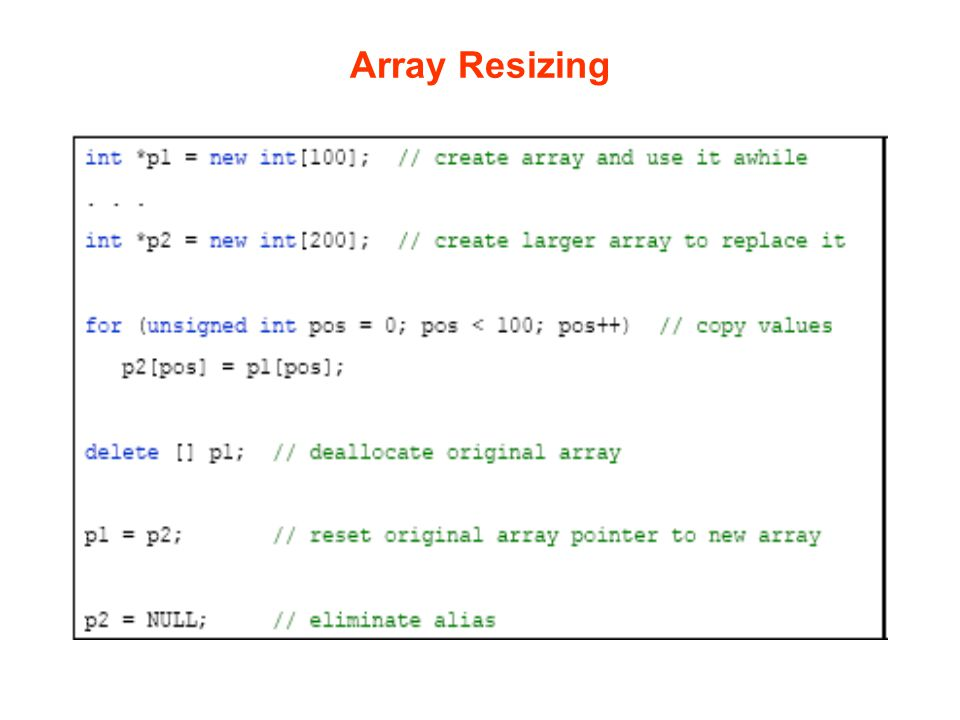 Array Resizing