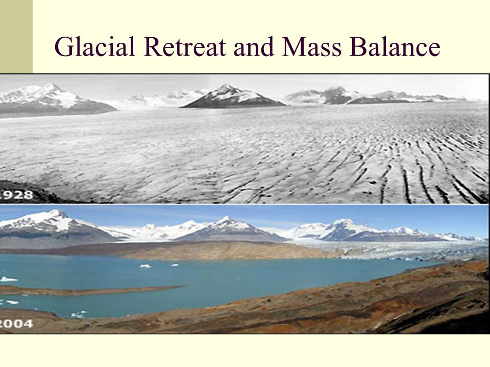 Glacial Retreat and Mass Balance