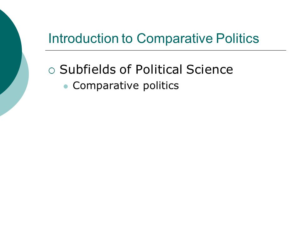 importance of comparative politics pdf