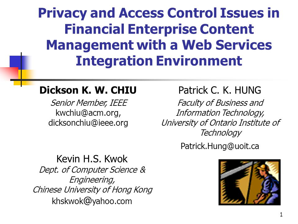 1 privacy and access control issues in financial enterprise content