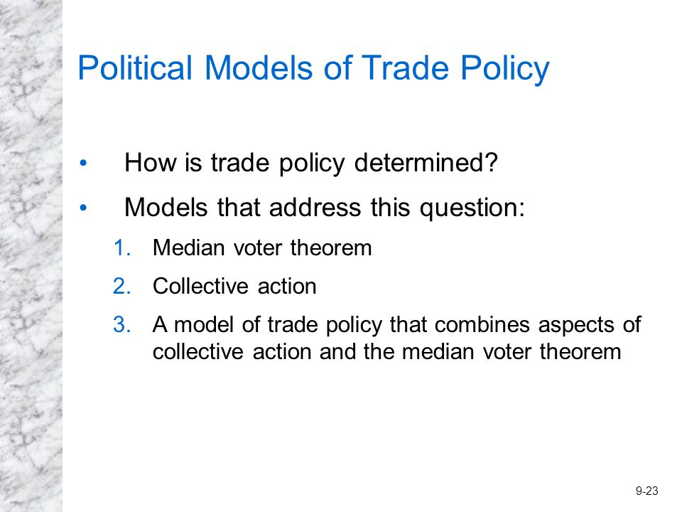 median voter theorem essay The median voter theorem rests on two main assumptions, with several others detailed below first, the theorem assumes that voters can place all election alternatives along a one-dimensional political spectrum it seems plausible that voters could do this if they can clearly place political candidates on.