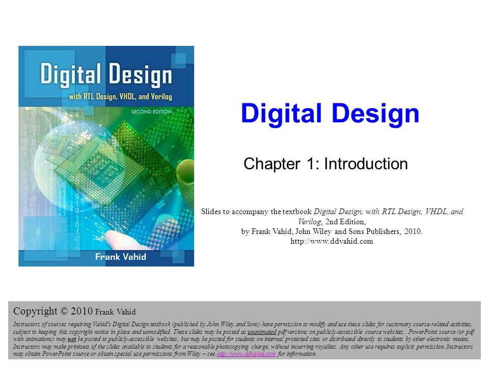 DIGITAL DESIGN 2E FRANK VAHID EBOOK DOWNLOAD