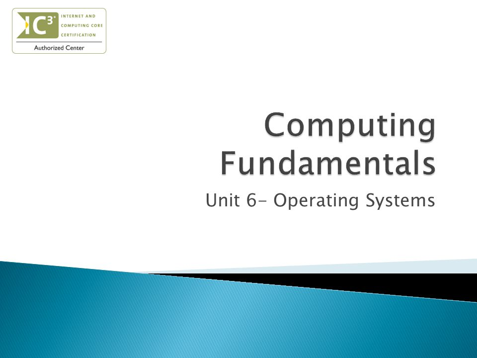 Unit 6- Operating Systems