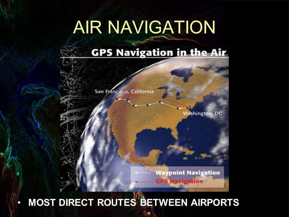 AIR NAVIGATION MOST DIRECT ROUTES BETWEEN AIRPORTS