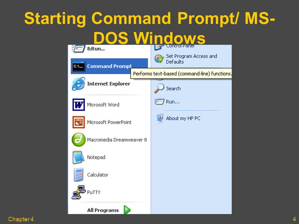 Chapter 41 Exploring Windows XP Vol  1 Part Six – The MS-DOS
