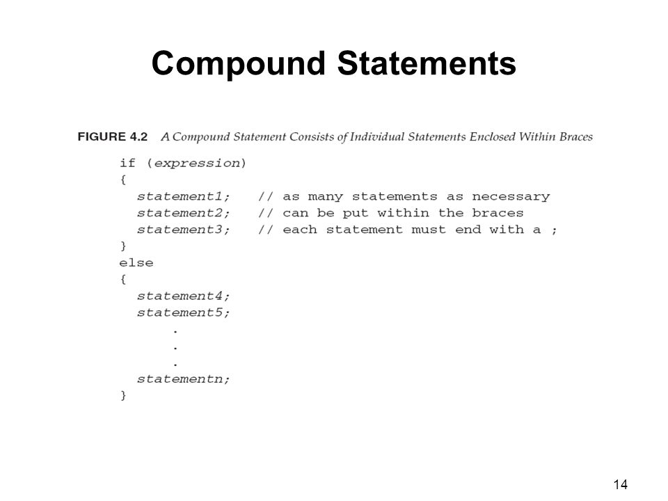 14 Compound Statements