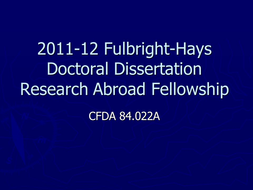 fulbright-hays doctoral dissertation research abroad fellowship program