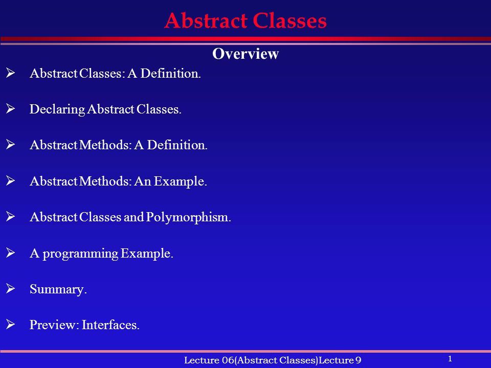 abstract definition examples