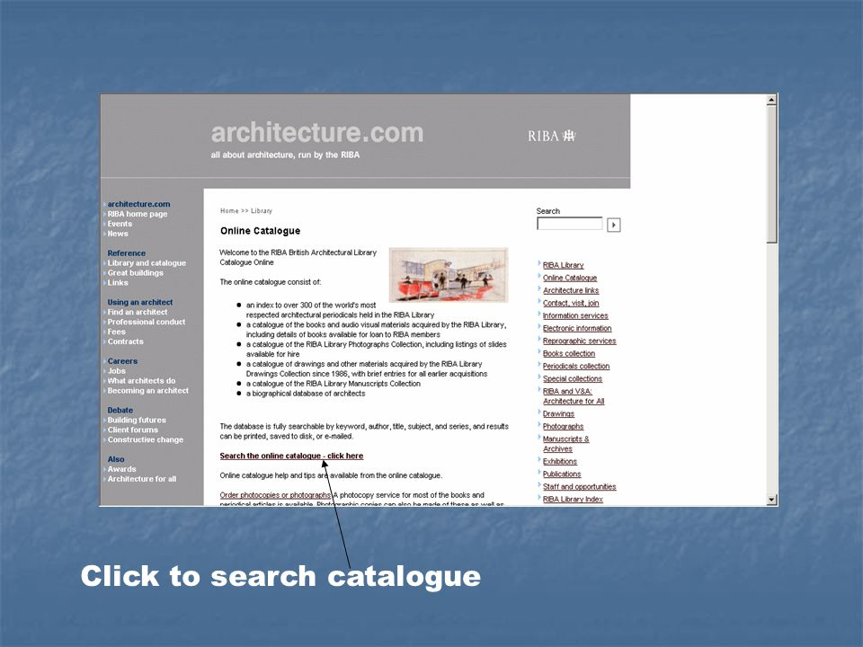 Click to search catalogue
