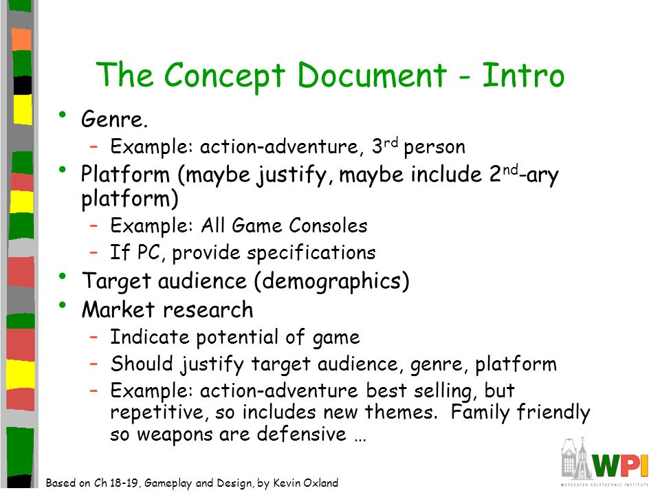 The Game Development Process Documentation The Role Of - Game concept document