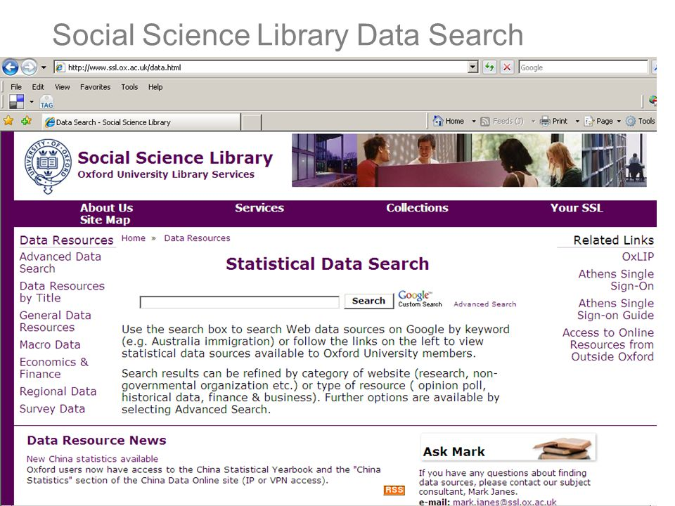 Social Science Library Data Search