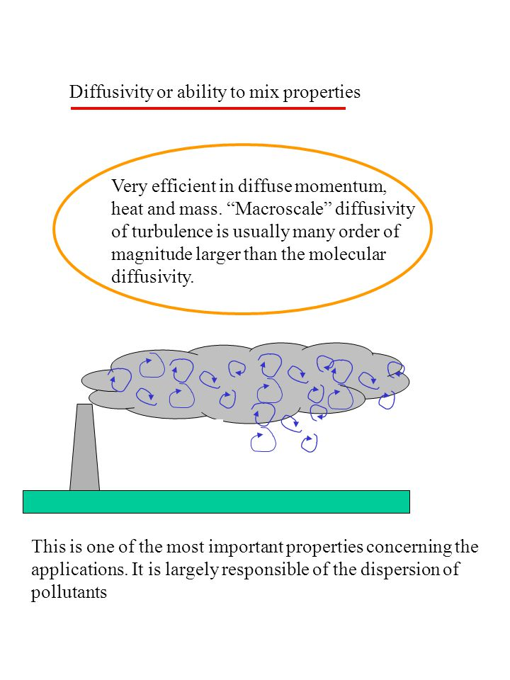 Diffusivity or ability to mix properties Very efficient in diffuse momentum, heat and mass.