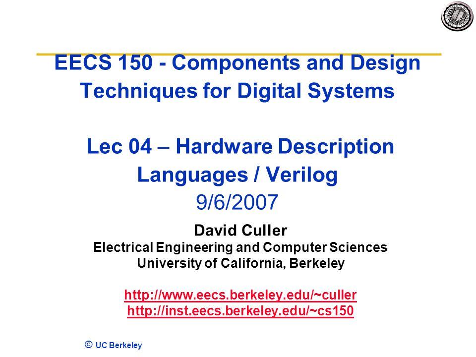 UC Berkeley EECS Components and Design Techniques for