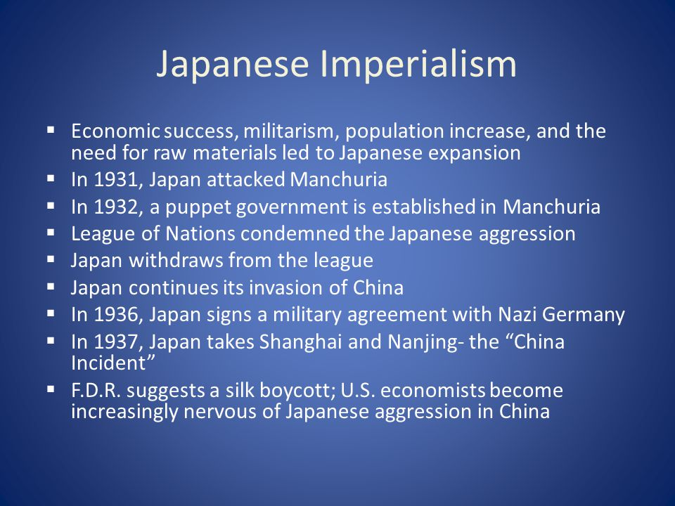 how did japanese imperialism lead to ww2
