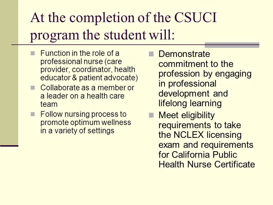 welcome nursing information session bsn california state university ...