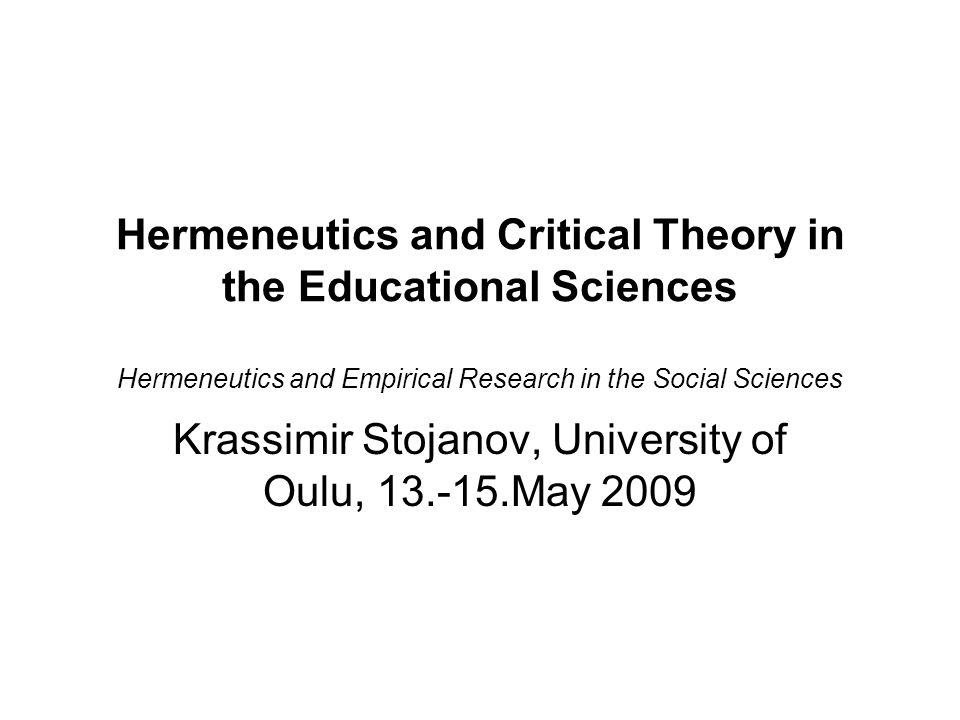 hermeneutics research