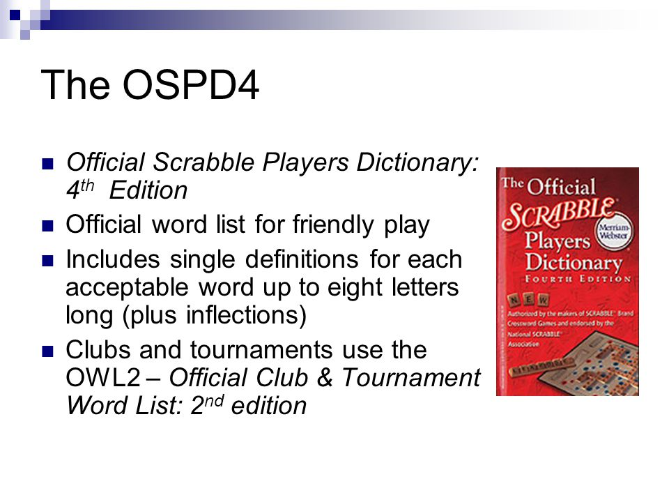 Scrabble 101 Overview What words to use How to make plays Two