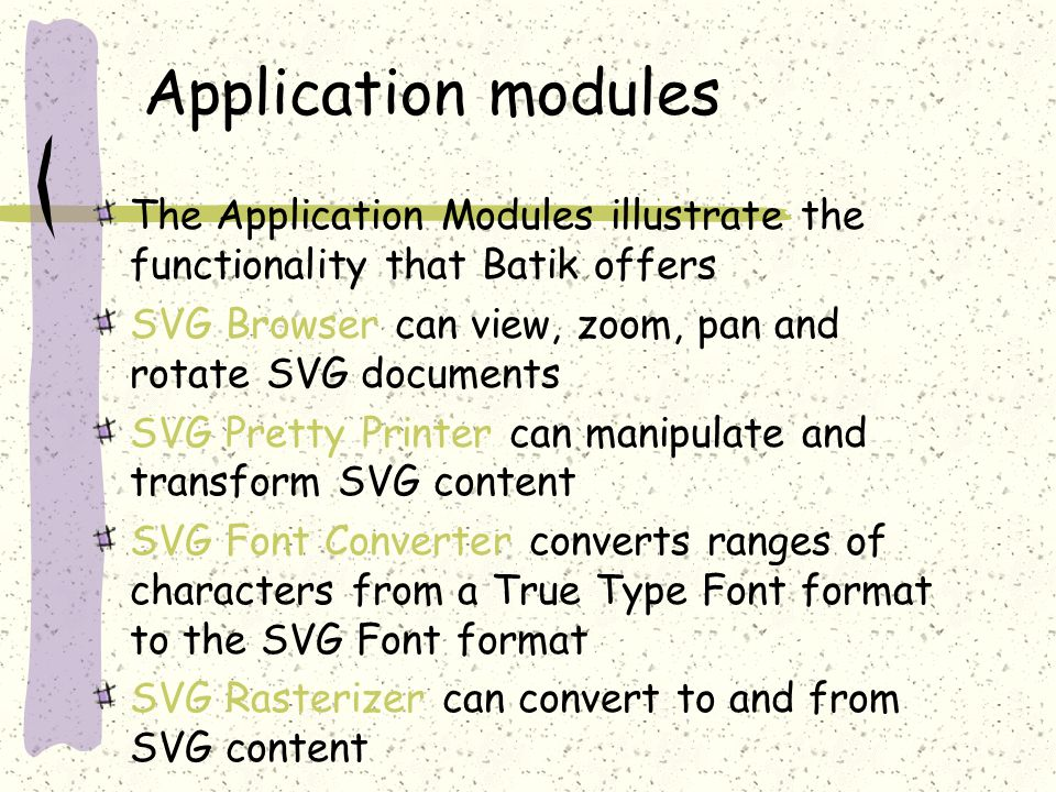 Introduction to SVG & Batik Presented by Shang-Ming Huang