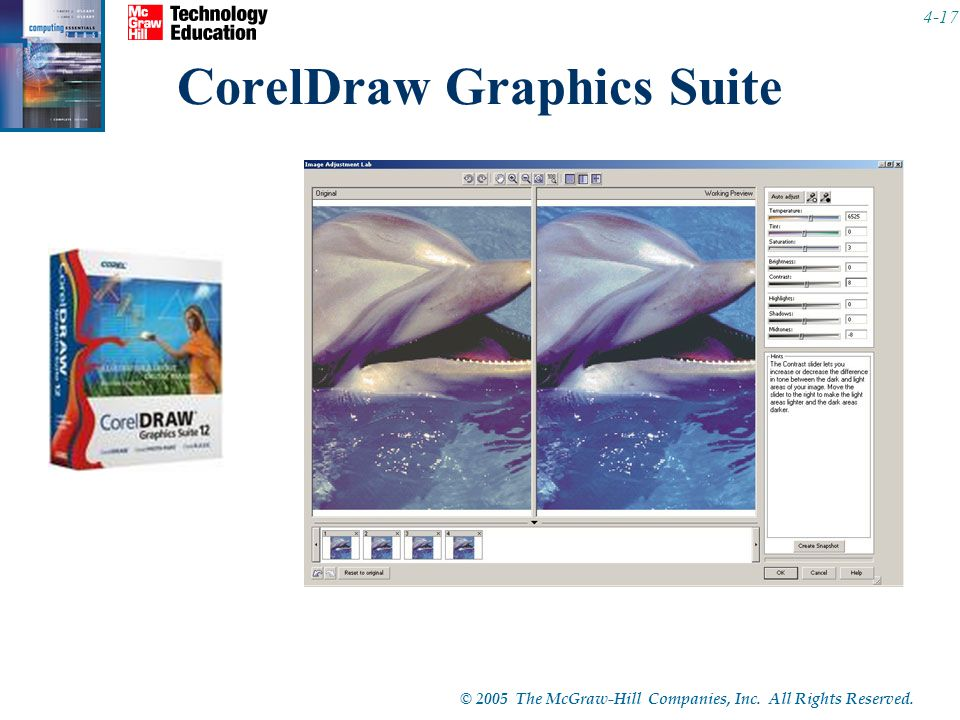 © 2005 The McGraw-Hill Companies, Inc. All Rights Reserved CorelDraw Graphics Suite