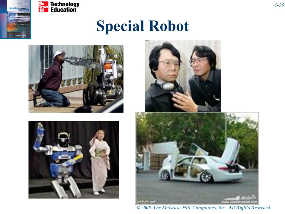 © 2005 The McGraw-Hill Companies, Inc. All Rights Reserved Special Robot