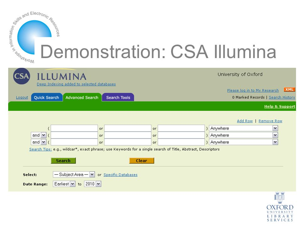 Demonstration: CSA Illumina
