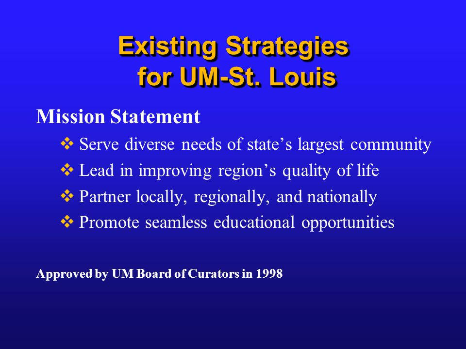 Existing Strategies for UM-St.