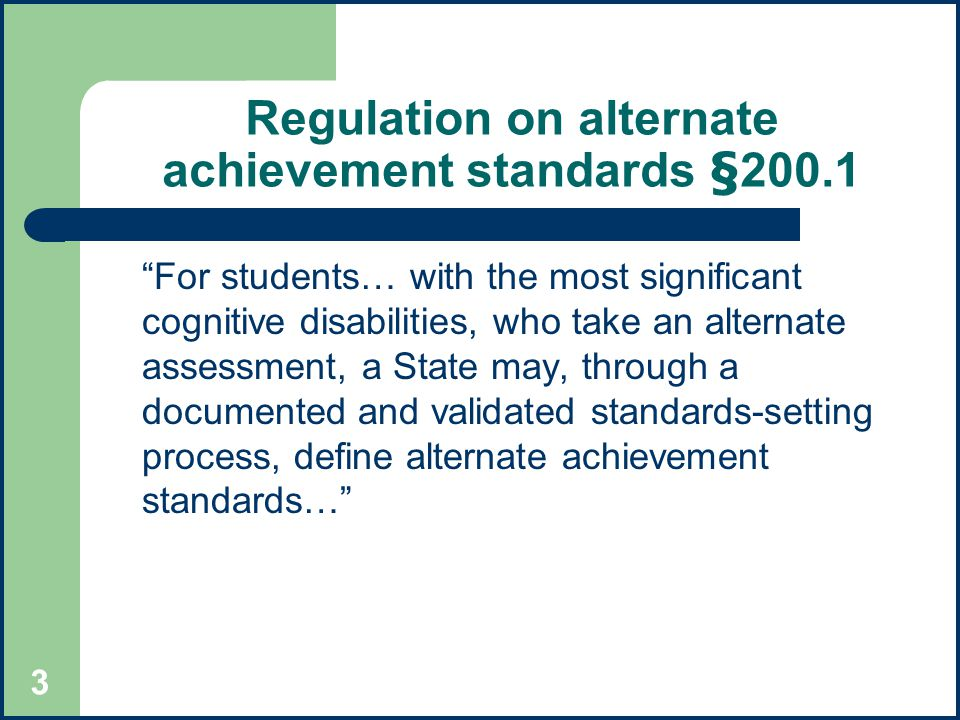 Validating assessments for students with disabilities