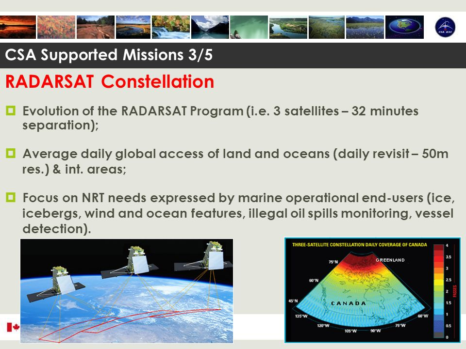 RADARSAT Constellation  Evolution of the RADARSAT Program (i.e.