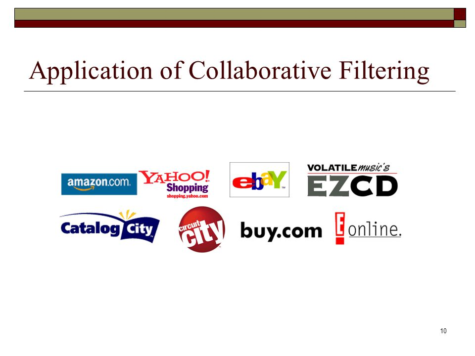 10 Application of Collaborative Filtering