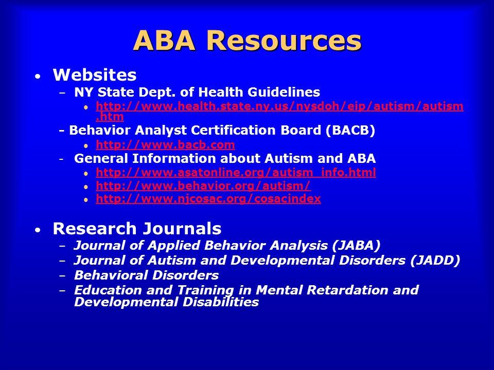 Sharon A. Reeve, PhD, BCBA Caldwell College Coordinator, Post ...