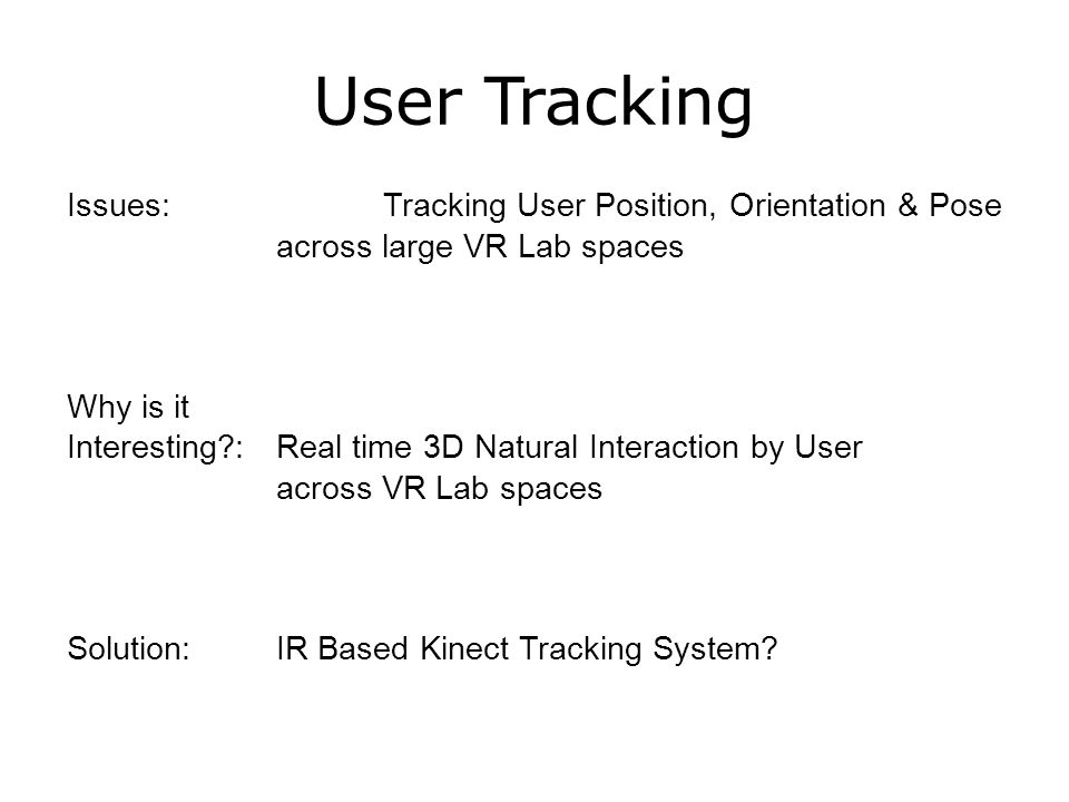 Real Time Visual Body Feedback & IR Tracking in HMD Based Virtual