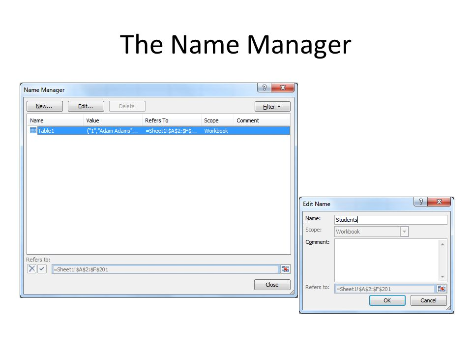 The Name Manager